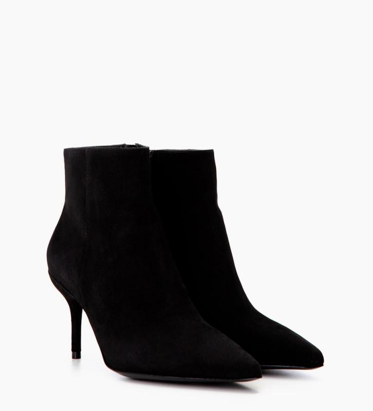 FREE LANCE Jonie 7 Zip Boots - Chèvre Velours - Noir