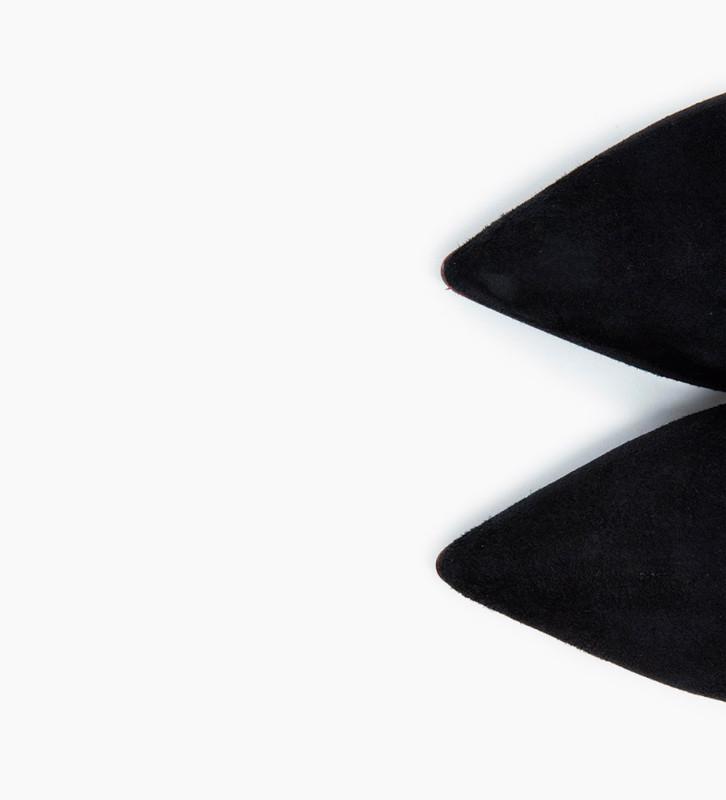 Eshop FREE LANCE Jonie 10 Chelsea Buckle Boots - Chèvre Velours - Noir