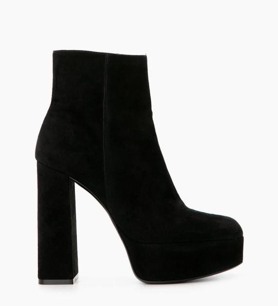 Maddie 9 Zip Boots - Chèvre Velours - Noir