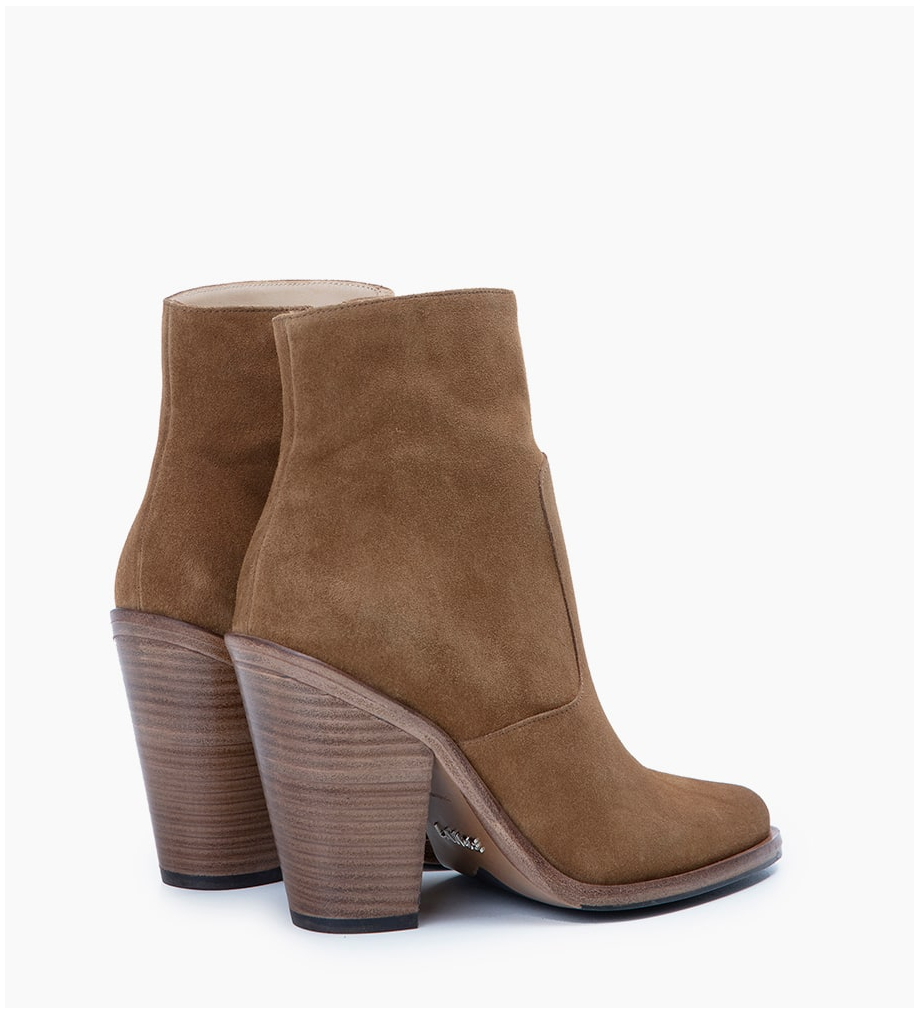 Eshop FREE LANCE Jane 9 Zip Boots - Cuir Velours - Cigare