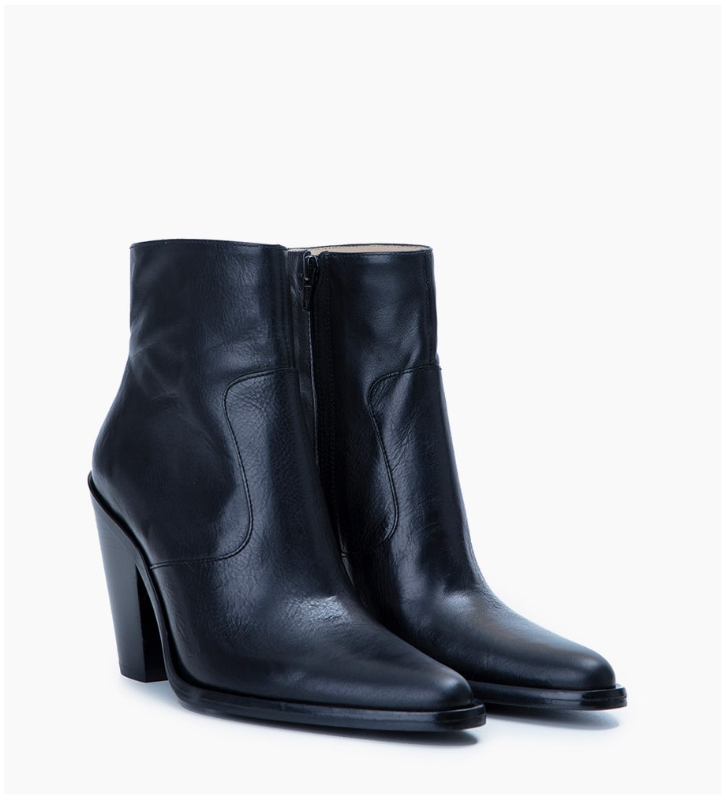 FREE LANCE Jane 9 Zip Boots - Cuir Végétal - Noir