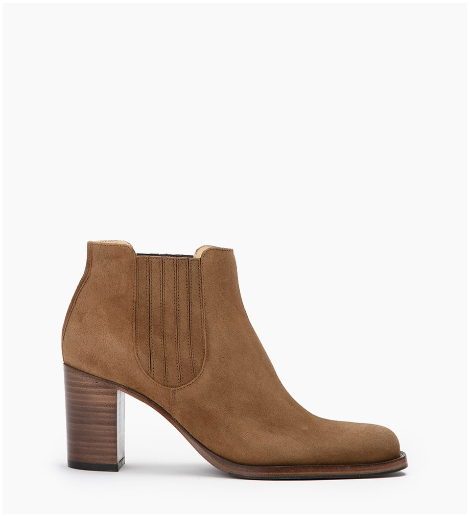 FREE LANCE LEGEND 7 BOOT ELAST - CUIR VELOURS - CIGARE