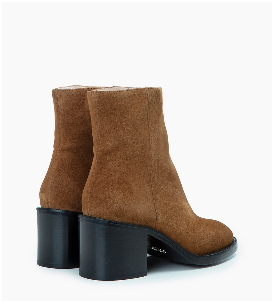 FREE LANCE CHIARA 6 ZIP BOOT - CUIR VELOURS - CIGARE
