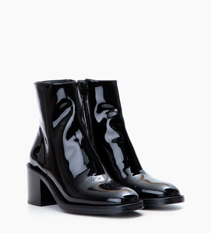 FREE LANCE Chiara 6 Zip Boots - Cuir Vernis - Noir