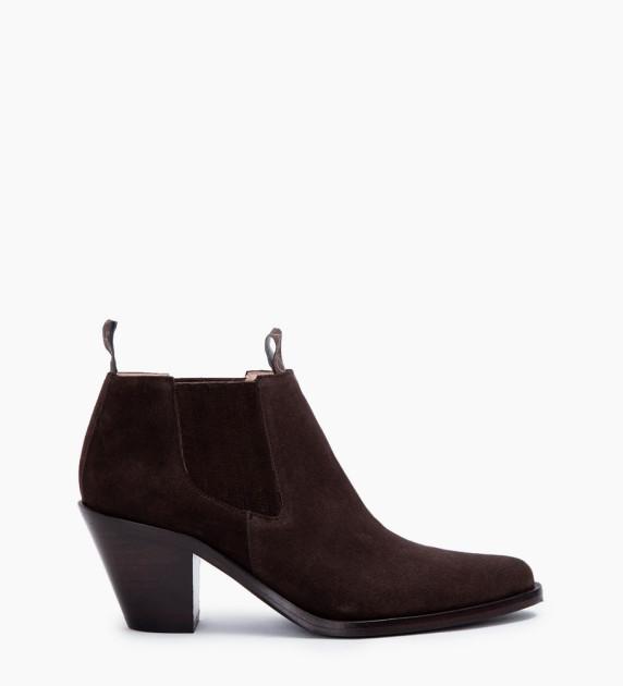 Jane 7 Low Chelsea Boots - Cuir Velours - Vison