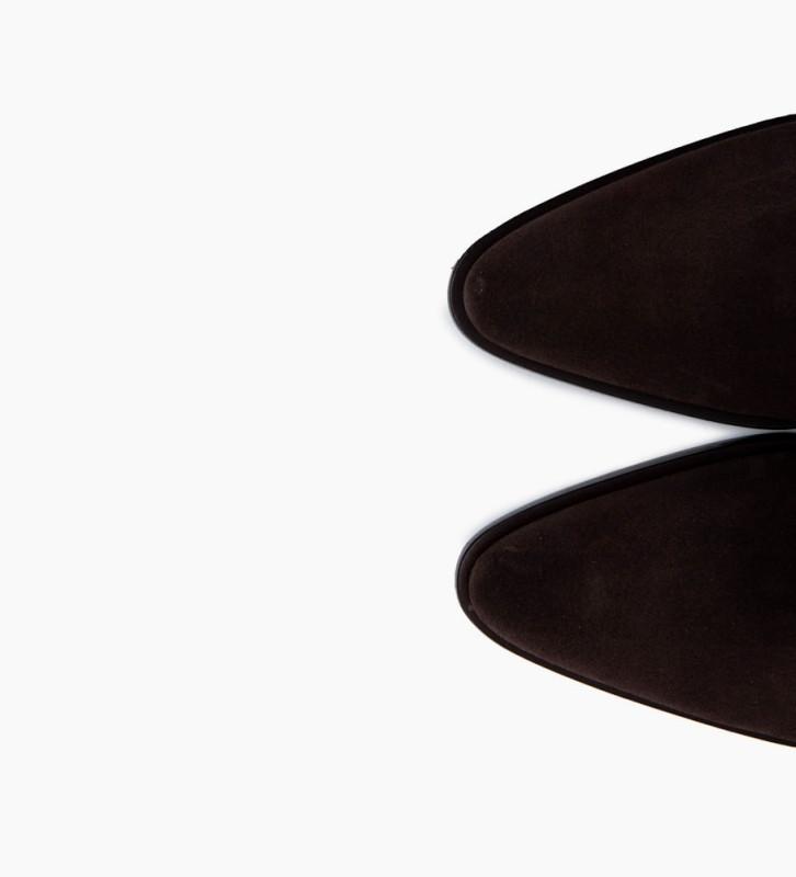 Eshop FREE LANCE Jane 7 Low Chelsea Boots - Cuir Velours - Vison