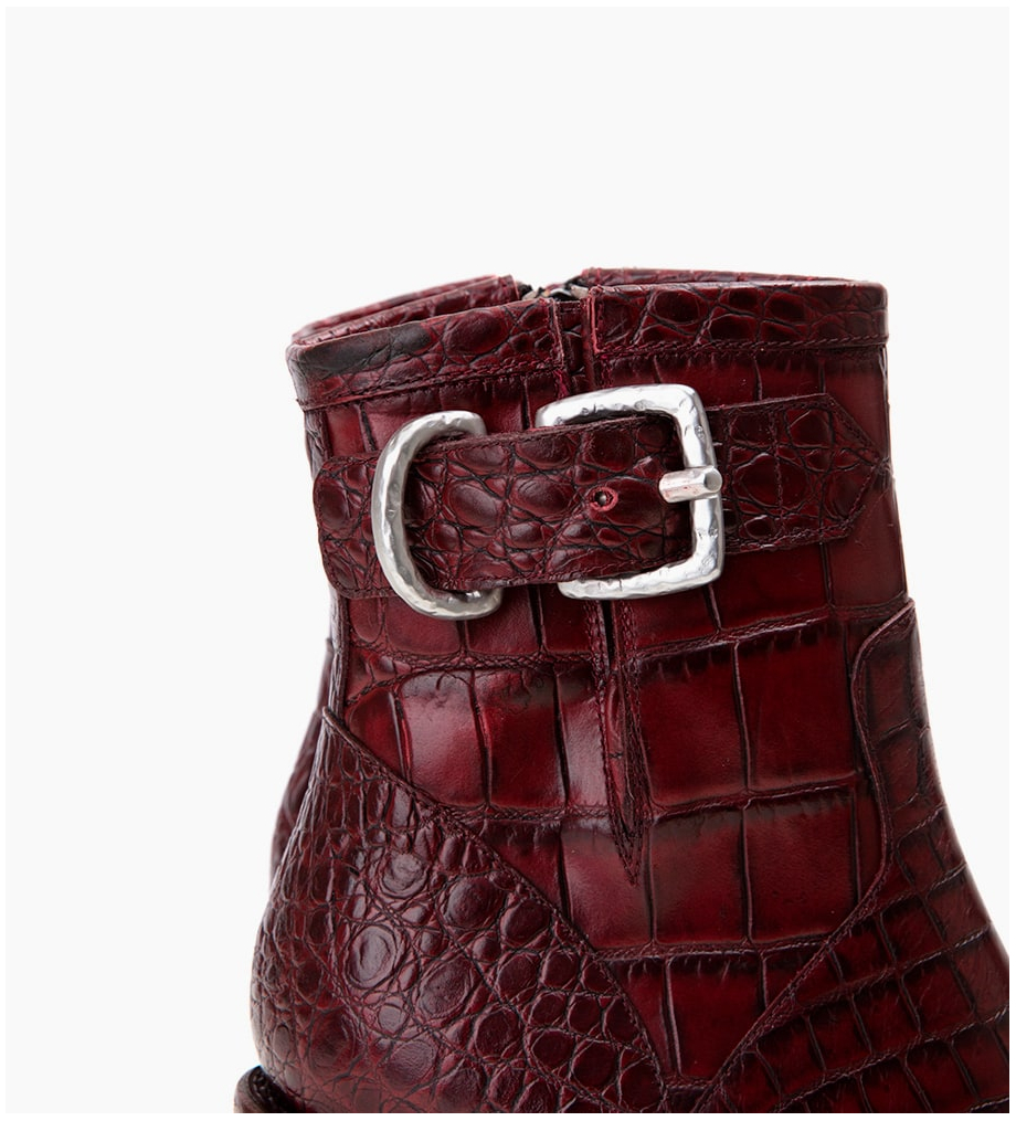 FREE LANCE Justy 9 Small Gero Buckle - Croco - Wine