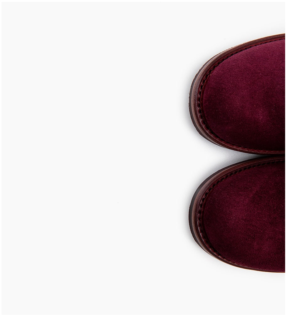 FREE LANCE Justy 9 Small Gero Buckle - Cuir Velours - Amarone