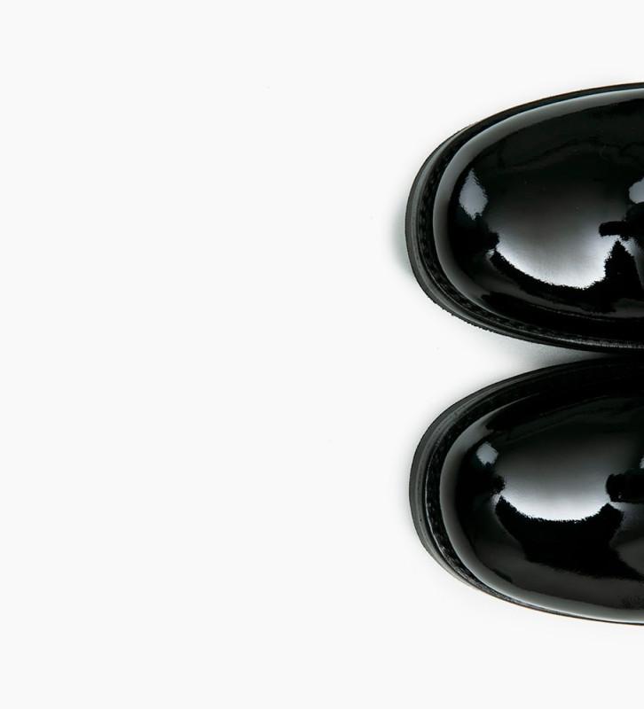 FREE LANCE JUSTY 7 SMALL GERO BUCKLE - CUIR VERNIS - NOIR