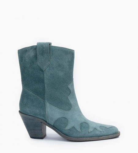 JANE 7 WEST MID BOOTS - CUIR VELOURS - STONE