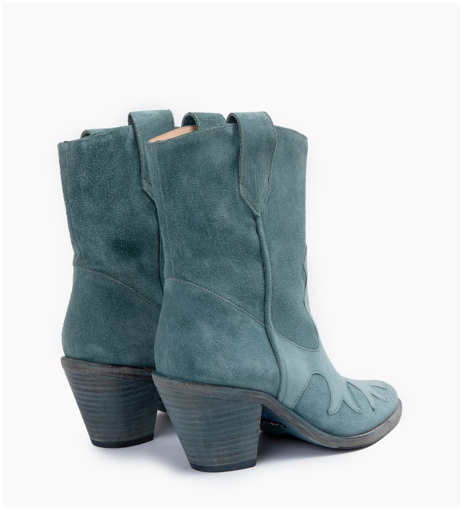 Eshop FREE LANCE JANE 7 WEST MID BOOTS - CUIR VELOURS - STONE