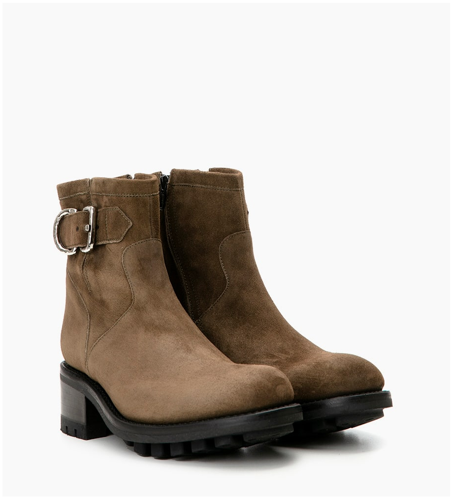Eshop FREE LANCE JUSTY 4 SMALL GE BUC - CUIR VELOURS - ARMY