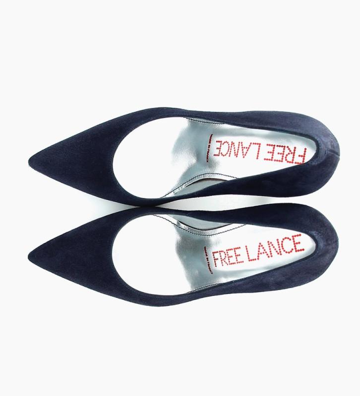 FREE LANCE FOREL 7 PUMPS - CUIR VELOURS - BLEU NUIT