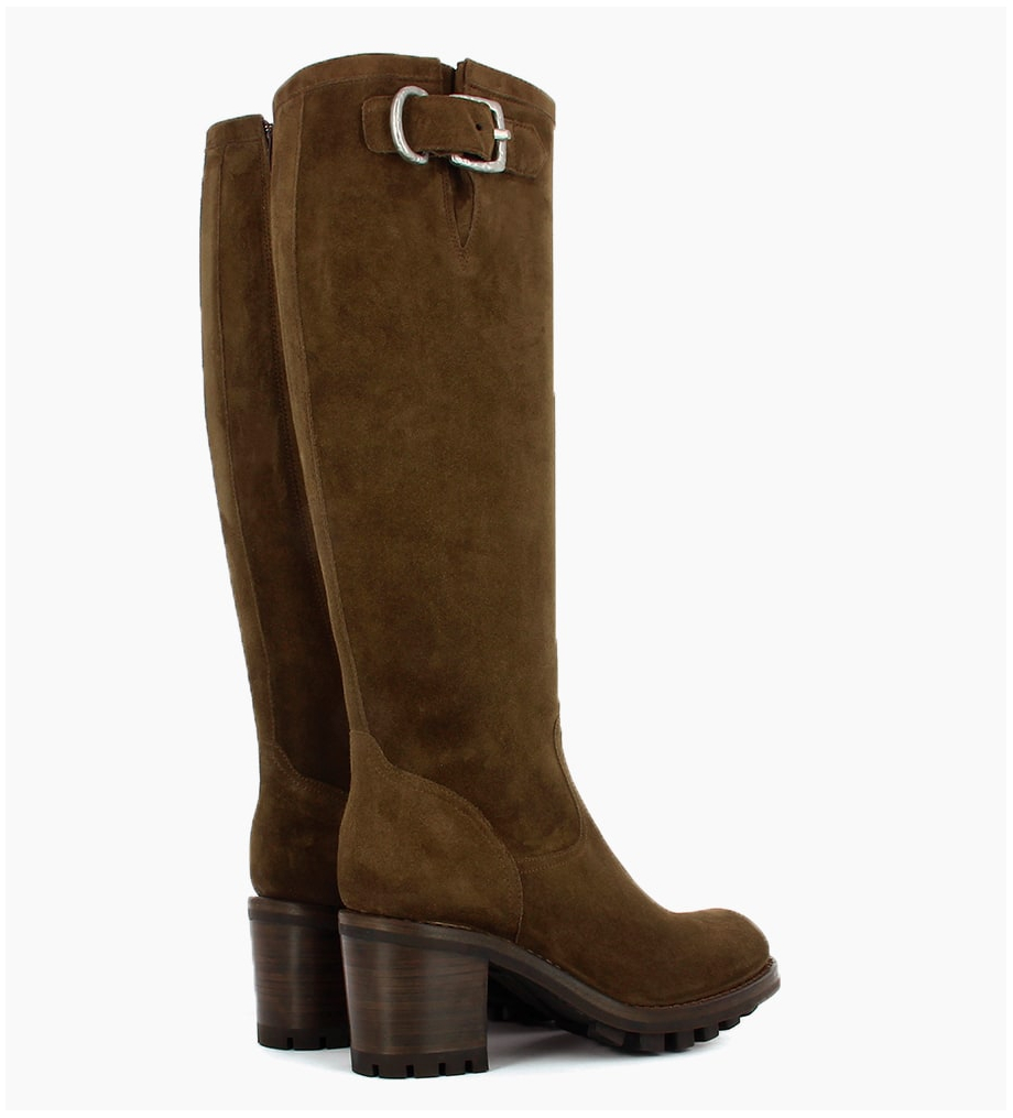 Eshop FREE LANCE JUSTY 7 ZIP GERONIMO BUCKLE - CUIR VELOURS - MOUSSE