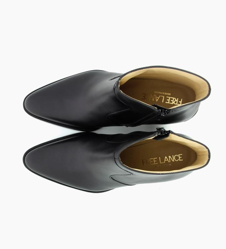 FREE LANCE JANE 7 ZIP BOOTS - CUIR LISSE BRILLANT - NOIR