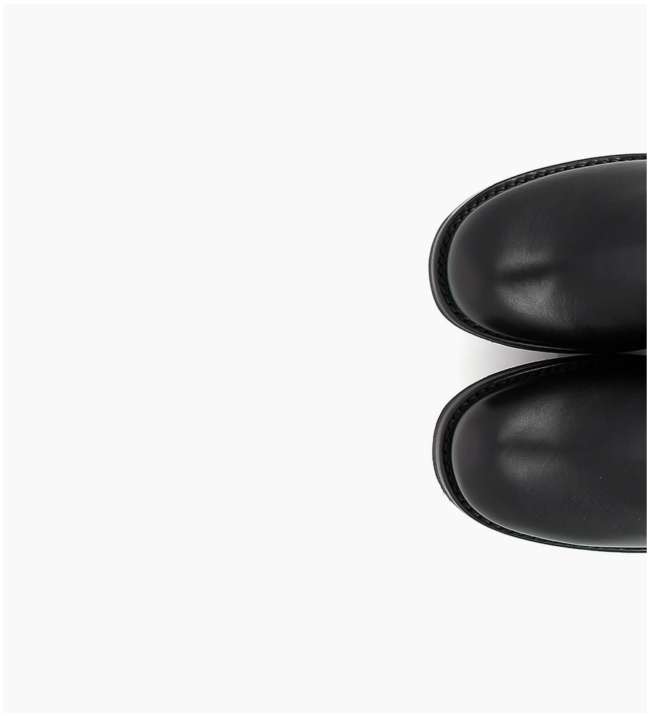 JUSTY 7 ZIP GERONIMO BUCKLE- CUIR LISSE - NOIR