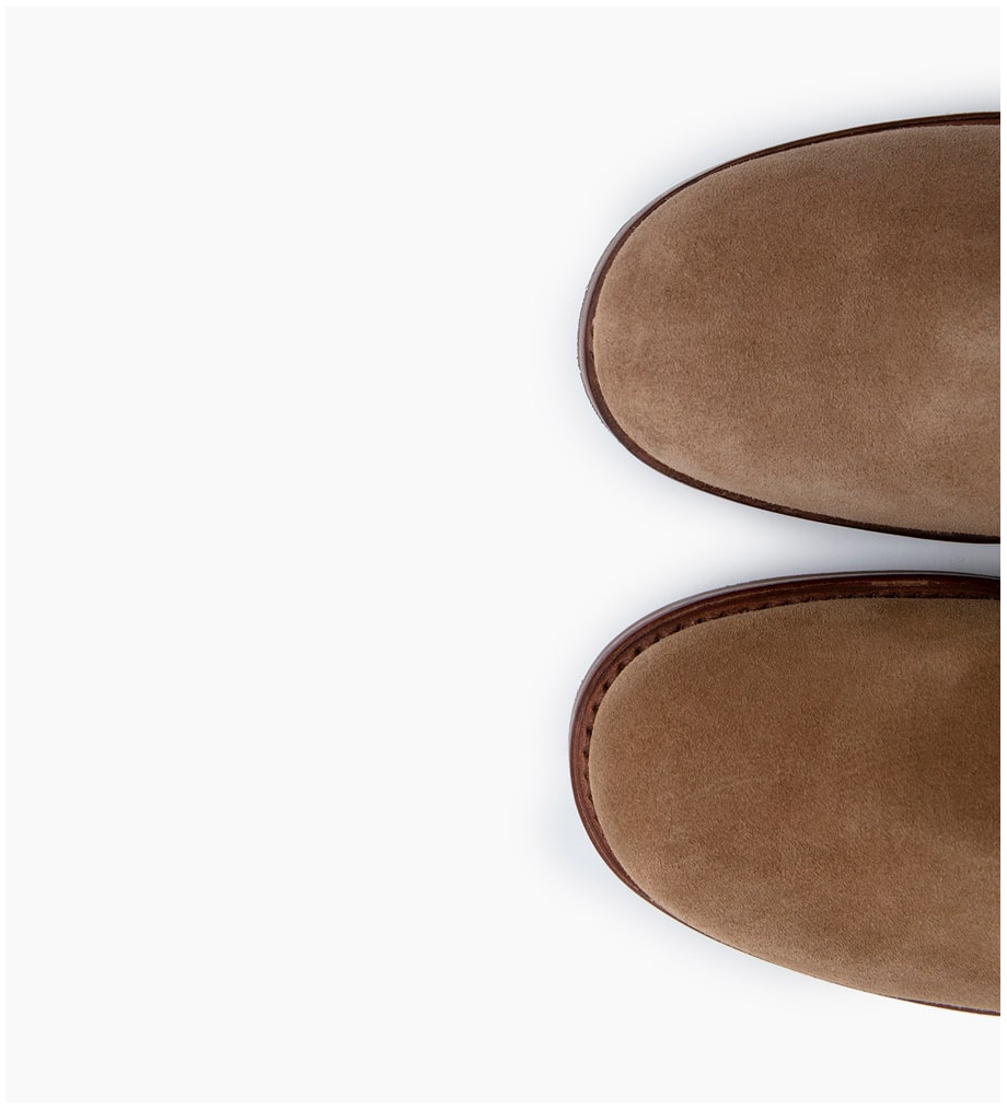 FREE LANCE JUSTY 9 SMALL GERO BUCKLE - CUIR VELOURS - TAUPE
