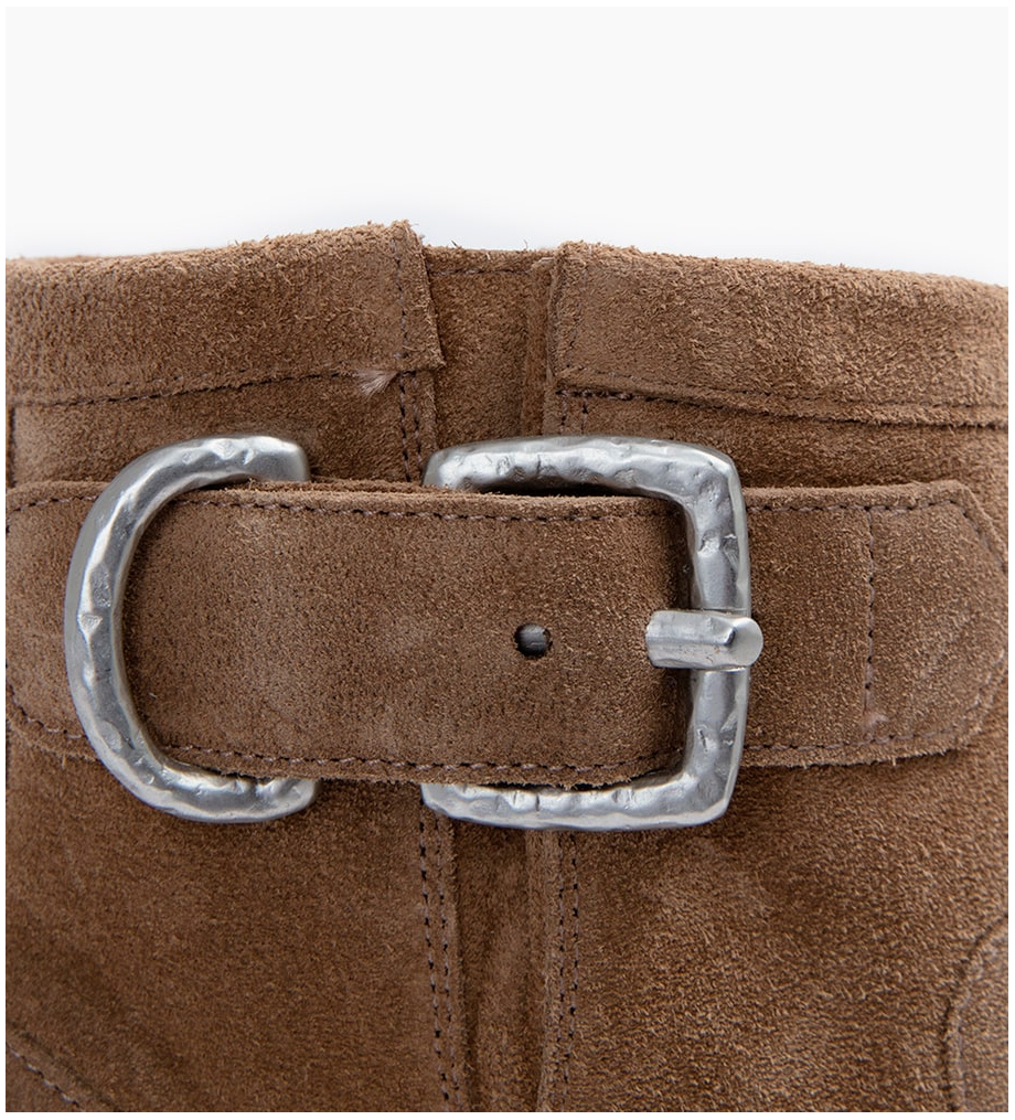Eshop FREE LANCE JUSTY 9 SMAL GER BUC - CUIR VELOURS - TAUPE