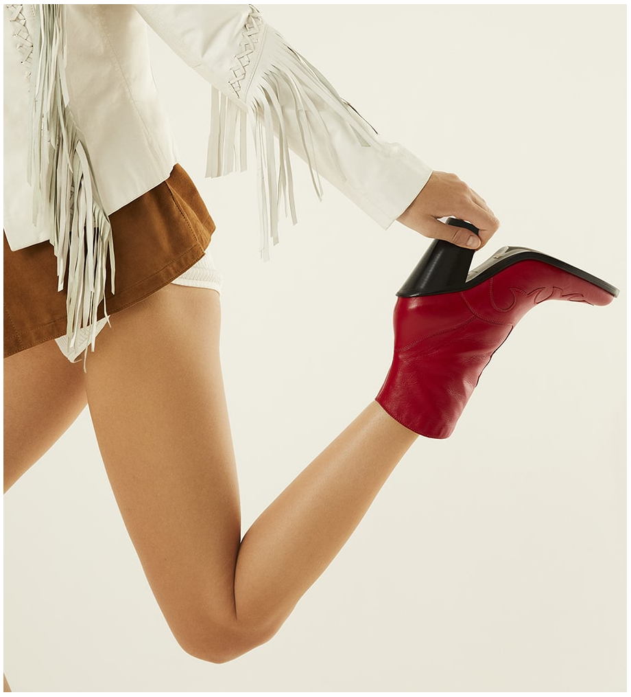 FREE LANCE Jane 9 West Zip Boots - Cuir Nappa - Cherry