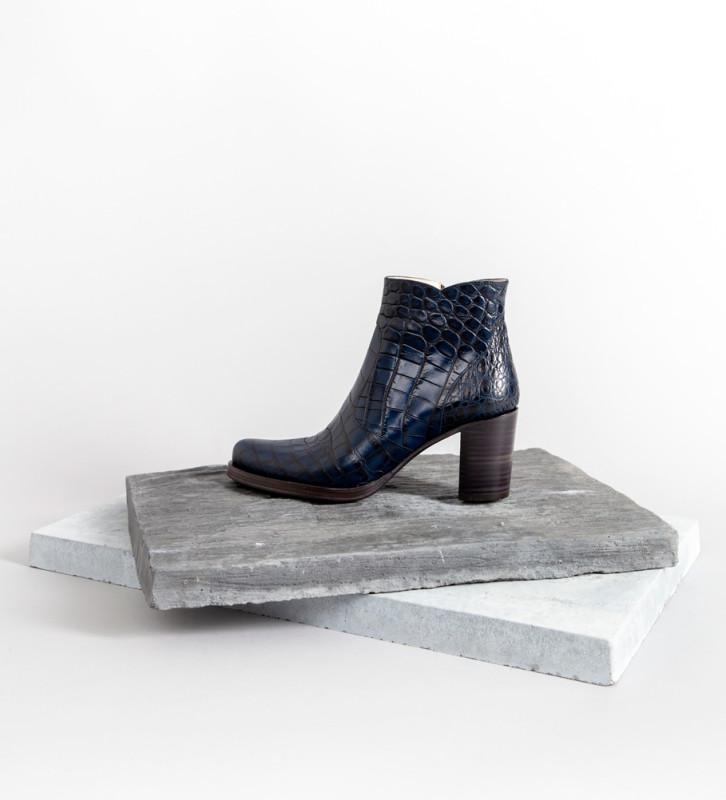 FREE LANCE Paddy 7 Zip Boots - Croco First - Bleu Nuit