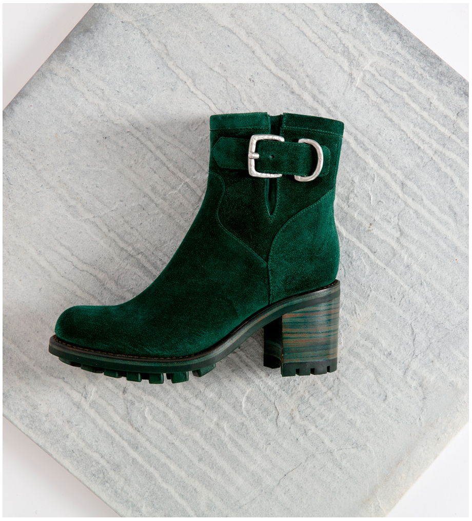 Eshop FREE LANCE Justy 7 Small Gero Buckle Boots - Cuir Velours - Forest