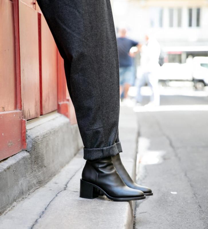 FREE LANCE Chiara 6 Zip Boots - Veau Lisse - Noir