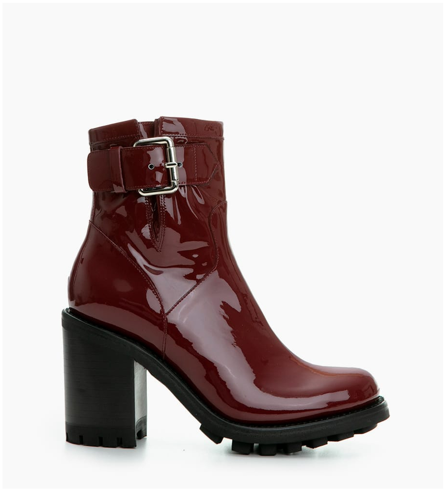 FREE LANCE JUSTY 9 SMALL GERO BUCKLE - CUIR VERNIS - BORDEAUX