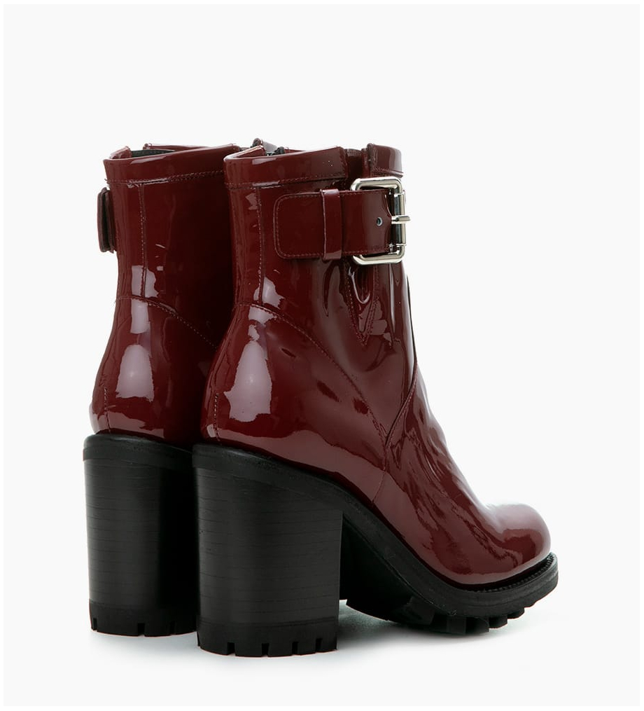 Eshop FREE LANCE JUSTY 9 SMALL GERO BUCKLE - CUIR VERNIS - BORDEAUX