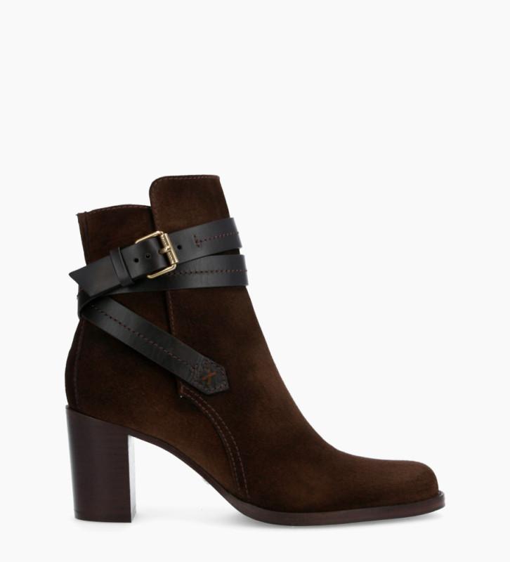 Legend 7 Jodhpur Boots - Cuir Velours/Veau Lisse Mat - Truffe