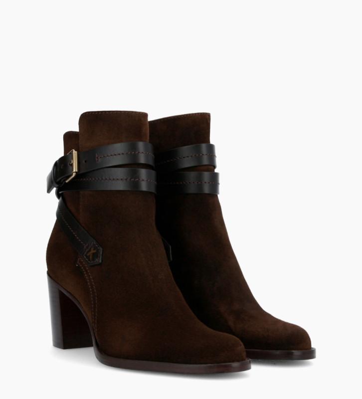 Eshop FREE LANCE Legend 7 Jodhpur Boots - Cuir Velours/Veau Lisse Mat - Truffe/Truffe