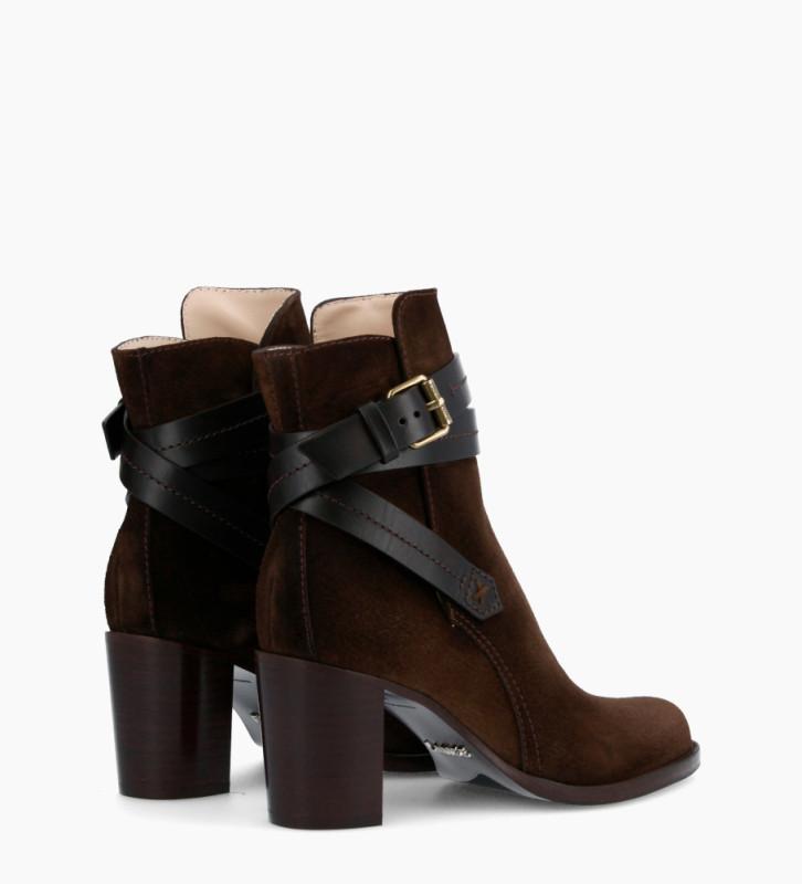 FREE LANCE Legend 7 Jodhpur Boots - Cuir Velours/Veau Lisse Mat - Truffe