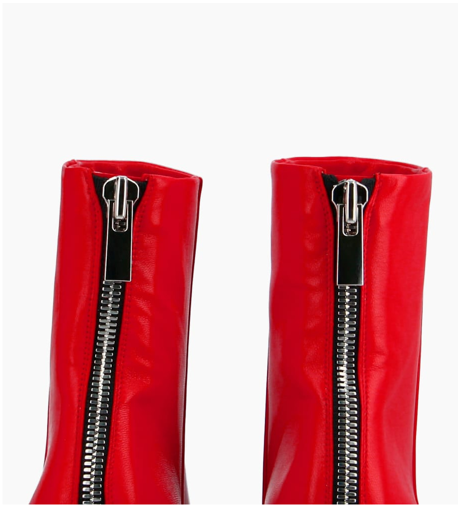 FREE LANCE Zoey 5 Back Zip Boots - Cuir Nappa - Cherry