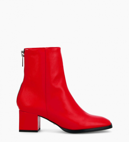 Zoey 5 Back Zip Boots - Cuir Nappa - Cherry