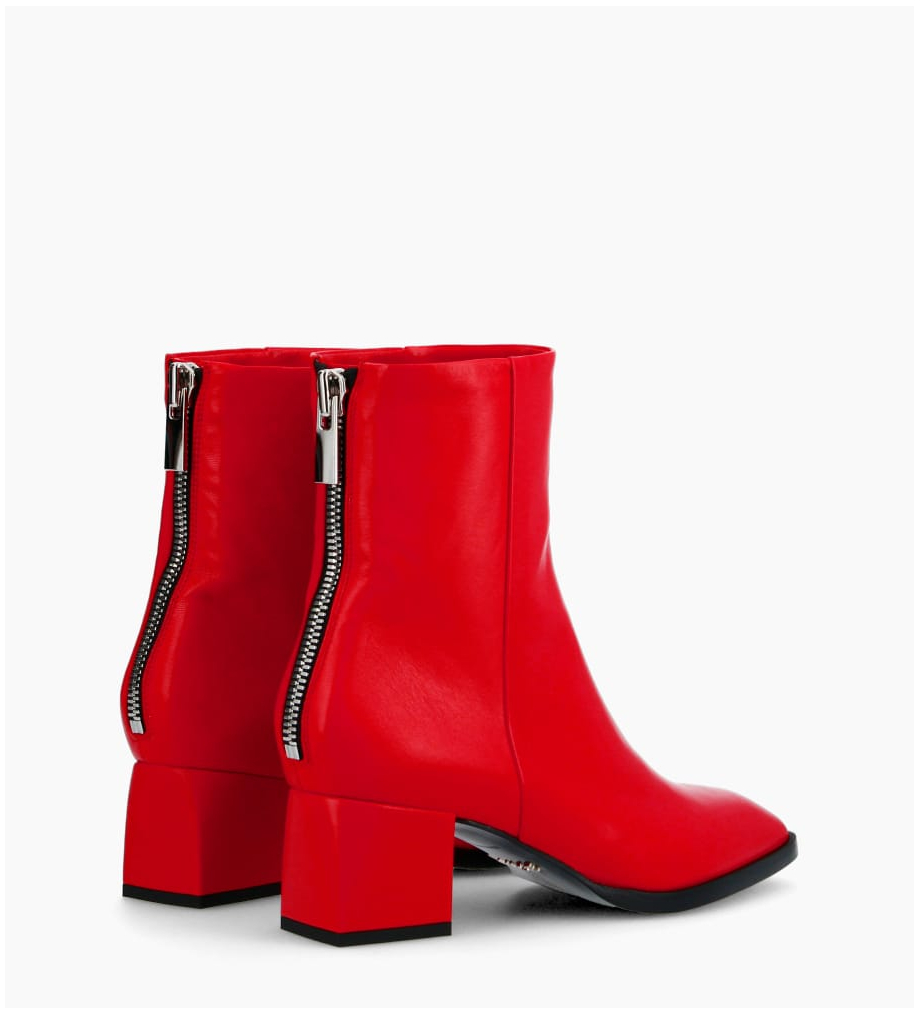 Eshop FREE LANCE Zoey 5 Back Zip Boots - Cuir Nappa - Cherry
