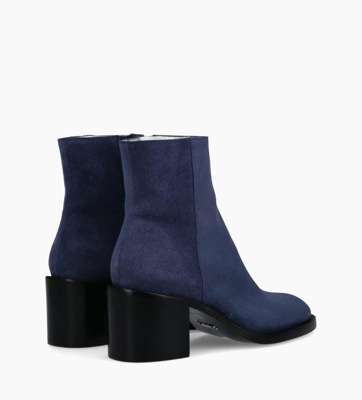 FREE LANCE Bottine à zip CHIARA 6 - Cuir velours - Bleu Roi