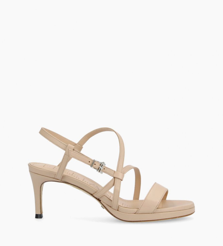 FREE LANCE Heeled sandal DITA 45 - Nappa leather - Beige