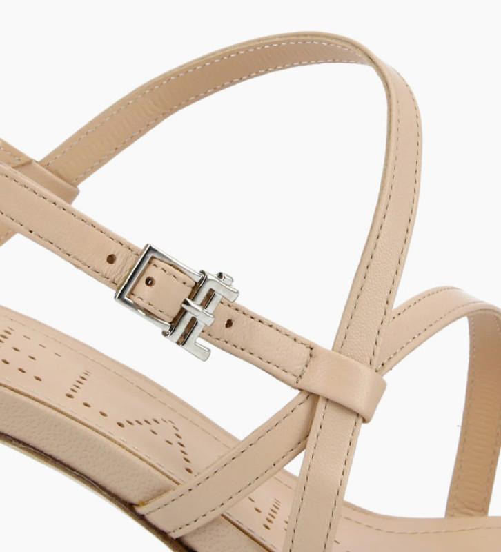 FREE LANCE Sandale à talon DITA 45 - Cuir nappa - Beige