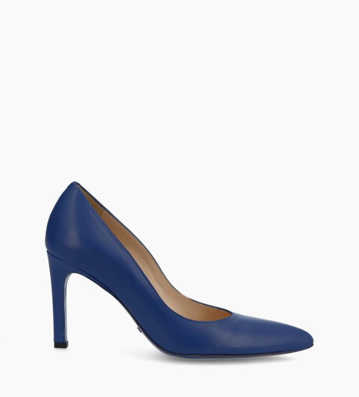 FREE LANCE Escarpin à talon à bout pointu FOREL 7 - Cuir nappa - Bleu roi