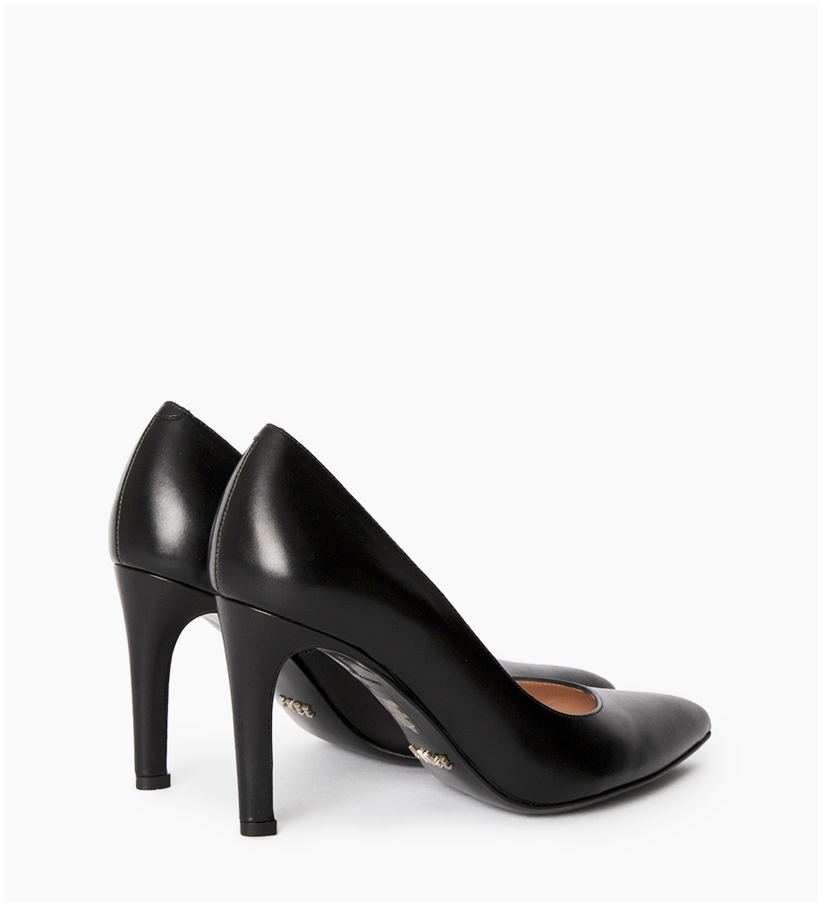 FREE LANCE Pump with pointed toe and stiletto heel Forel 7 - Smooth calf leather - Black