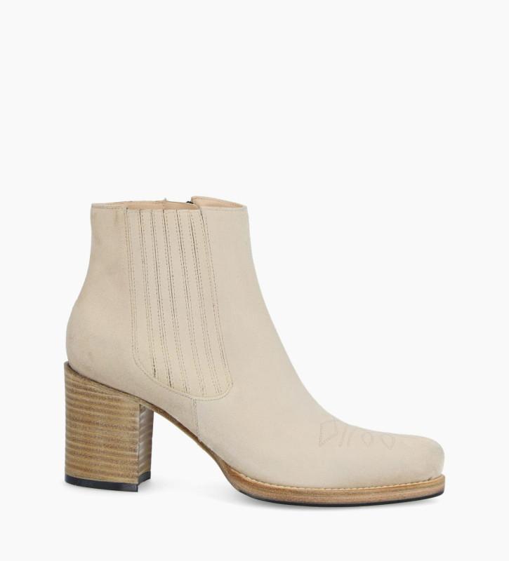 FREE LANCE Chelsea boot GOTHAM 7 - Suede - Linen