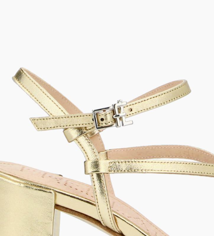 FREE LANCE Sandale à talon GRACE 5 - Cuir métallisé - Or