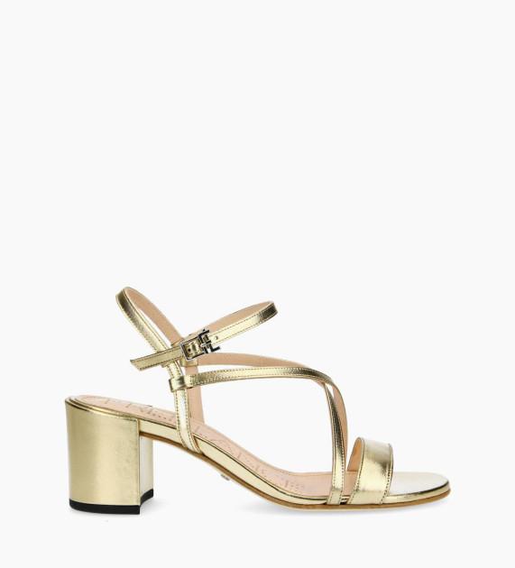 Heeled sandal GRACE 5 - Metallic Leather - Gold