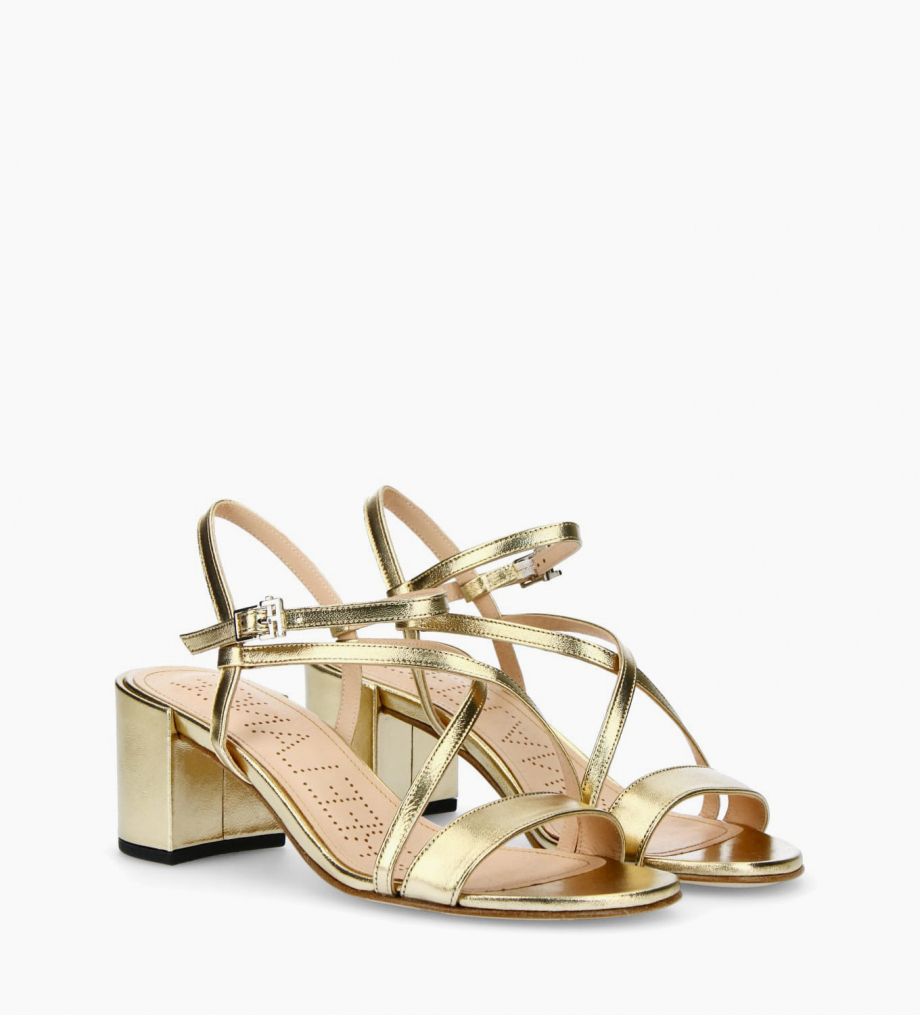 FREE LANCE Heeled sandal GRACE 5 - Metallic Leather - Gold