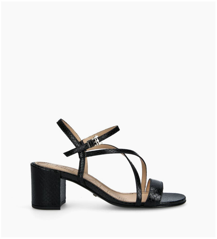 FREE LANCE Heeled sandal GRACE 5 - Snake Print - Black