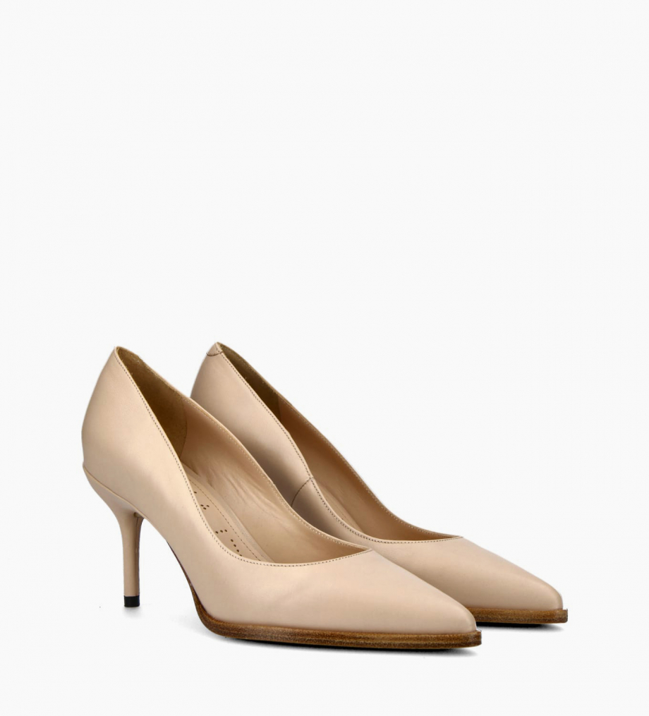 FREE LANCE Pump with pointed toe and stiletto heel JAMIE 7 - Nappa leather - Beige